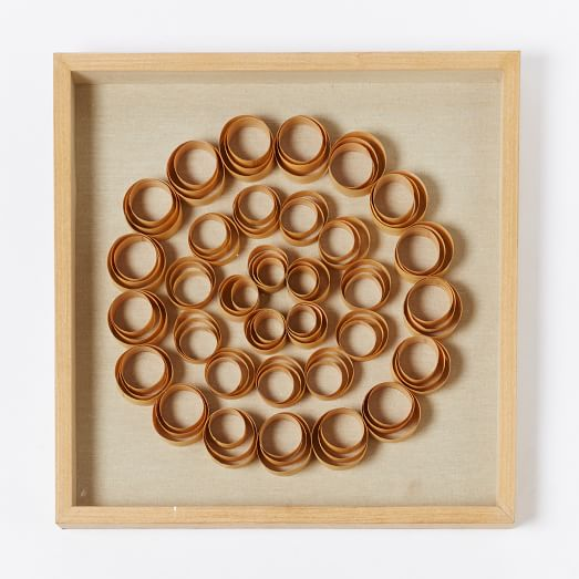Wall Decoration Rings : Nature of wood wall art rings west elm
