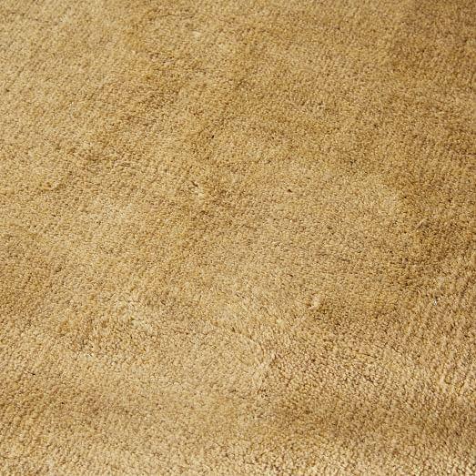 Hand Loomed Shine Rug Gray: Hand-Loomed Shine Wool Rug - Wasabi