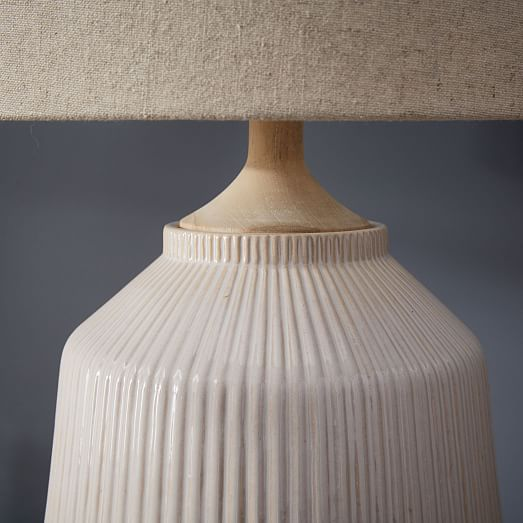 roar rabbit ripple ceramic table lamp large white. Black Bedroom Furniture Sets. Home Design Ideas
