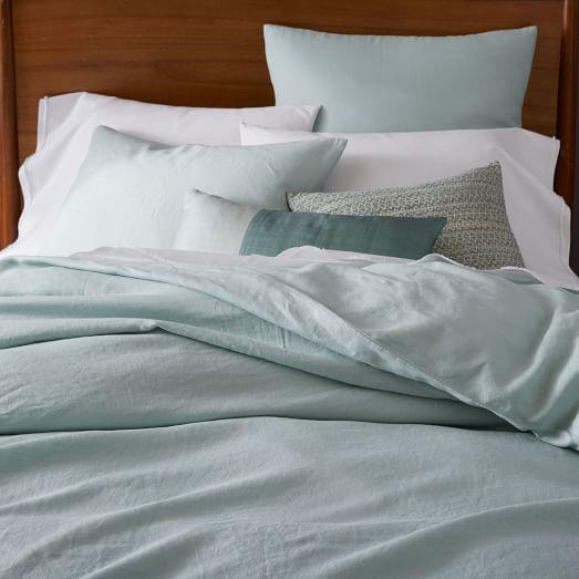 belgian flax linen duvet cover pale harbor west elm. Black Bedroom Furniture Sets. Home Design Ideas