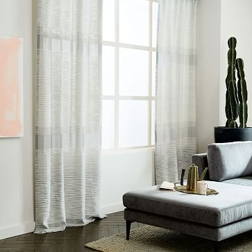 Cotton Canvas Grommet Curtain White West Elm