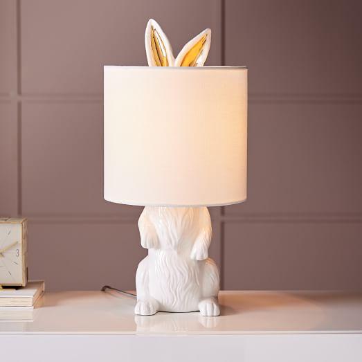 Ceramic Nature Rabbit Table Lamp West Elm