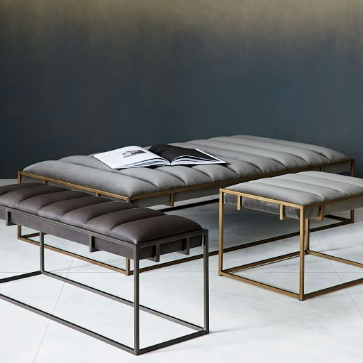 Fontanne Leather Bench West Elm