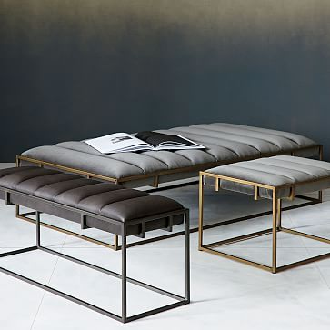 Fontanne Leather Bench M