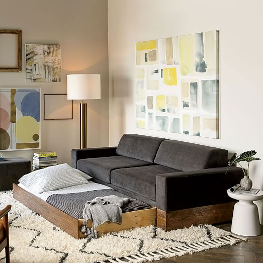 Small Apartment Bedroom West Elm Bedroom Ideas Bedroom Design Houzz Lighting Ideas For Bedroom: Emery Sofa + Daybed + Trundle