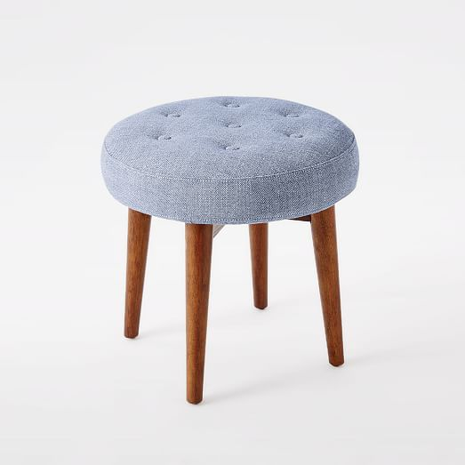 Mid Century Upholstered Stool West Elm