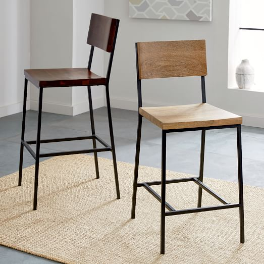 Rustic Bar Stool Counter Stool West Elm