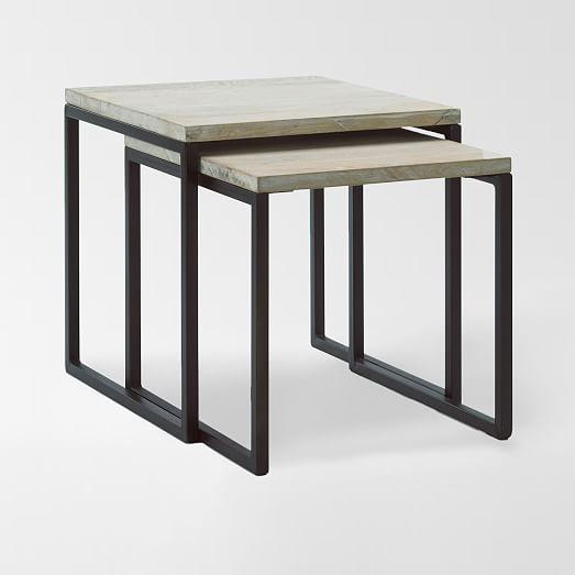 Box Frame Nesting Tables - Wood Top | west elm