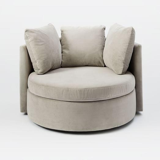 shelter swivel chair west elm. Black Bedroom Furniture Sets. Home Design Ideas
