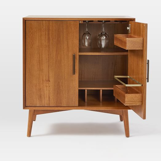 mid century bar cabinet small west elm