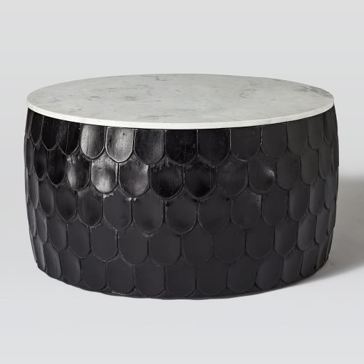 Scaled Drum Coffee Table