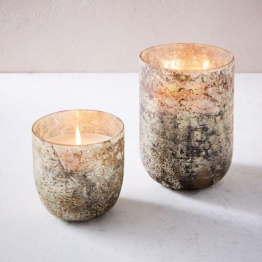 Antiqued Mercury Glass Scented Candle, Medium