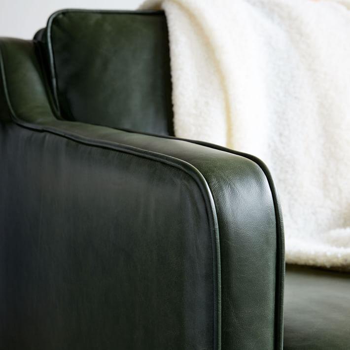 Hamilton Leather Sofa     quot     west elm West Elm