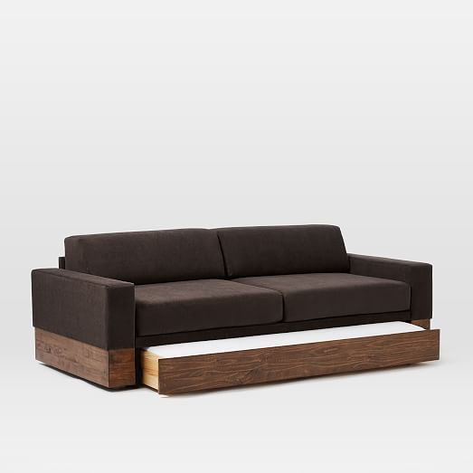 Emery sofa daybed trundle west elm West elm sofa bed