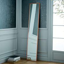 metal framed narrow floor mirror
