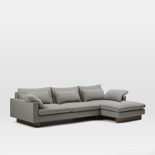 Harmony 2 piece chaise sectional west elm for 2 piece sectional with chaise