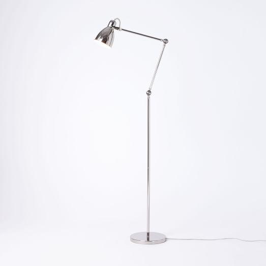 Industrial task floor lamps west elm for Task lighting floor lamp