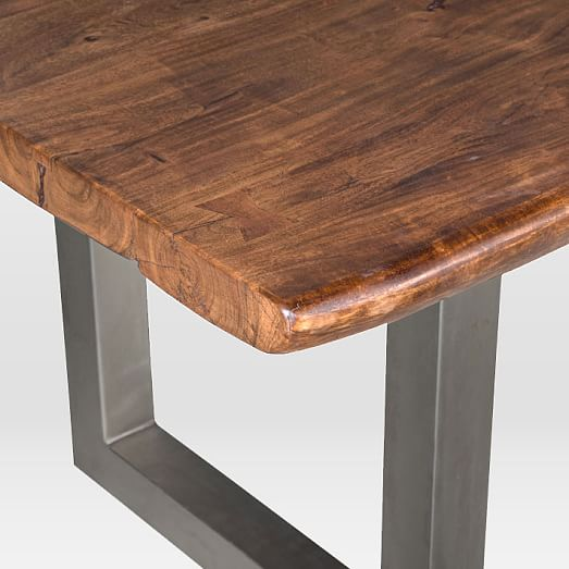 Live Edge Kitchen Table: Live Edge Wood Dining Table