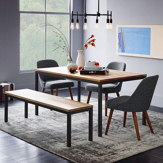 box frame dining table wood west elm. Black Bedroom Furniture Sets. Home Design Ideas