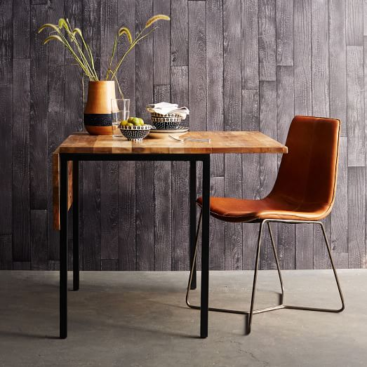 box frame drop leaf expandable table west elm. Black Bedroom Furniture Sets. Home Design Ideas