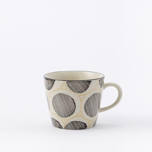 Collector's Edition Mugs, Black/Yellow Circles