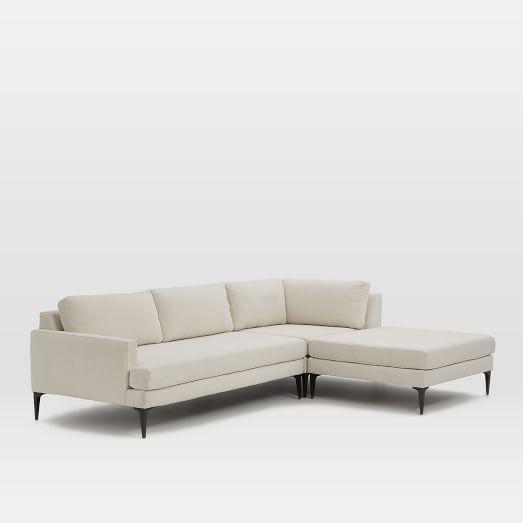 Andes Set 2, Left Arm 2.5 Seater Sofa, Ottoman, Corner, Nubby Weave, Snow