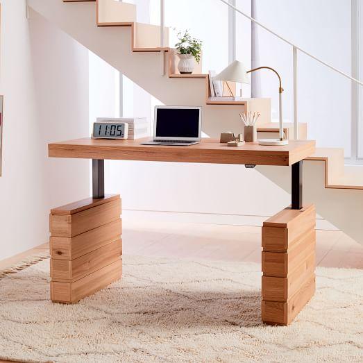 Stack Sit Stand Adjustable Desk West Elm