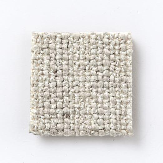Marco Left Arm Sofa, Chunky Basketweave, Stone