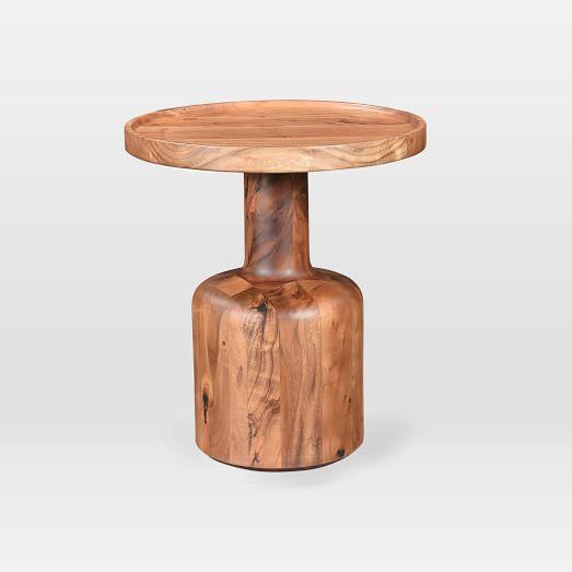 Turned Wood Side Table West Elm