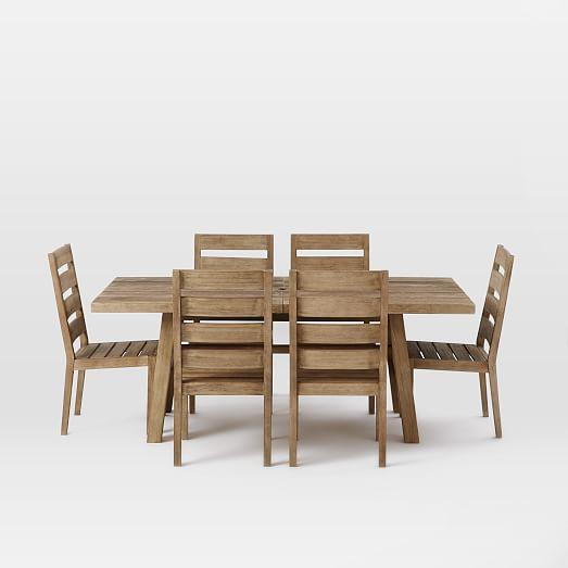 jardine expandable dining set west elm. Black Bedroom Furniture Sets. Home Design Ideas