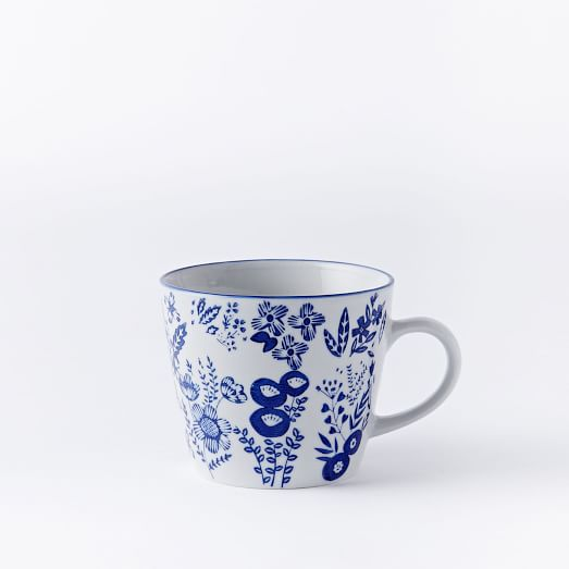 Collector's Edition Mug, Navy Botanical, Small