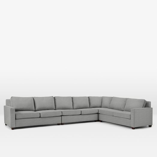 Henry Set 6 :Armless Loveseat, Left Arm Loveseat, Right Arm Loveseat, Corner, Deco Weave, Feather Gray
