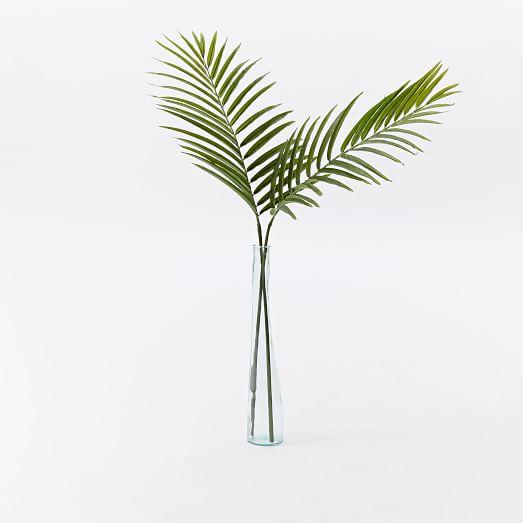 Faux Palm Leaf Branch
