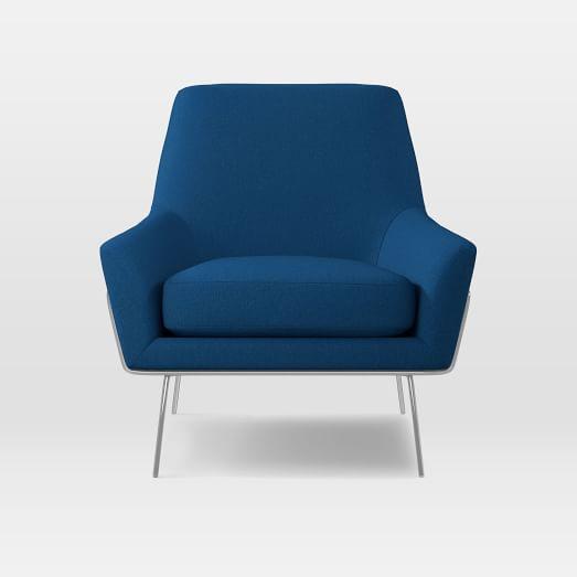 Lucas Wire Chair, Gamut, Deep Ocean