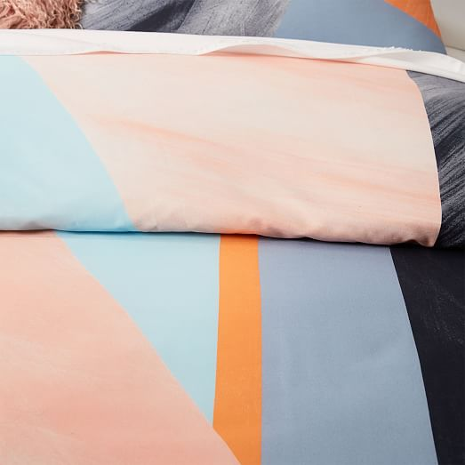 400 Thread Count Organic Sateen Brushed Collage Duvet