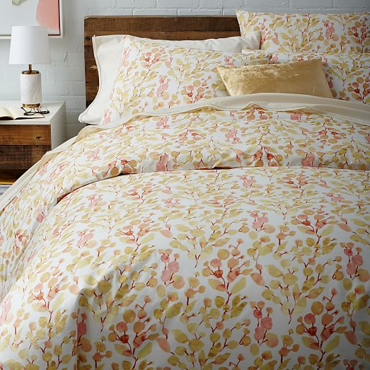Organic Dot Blossom Duvet Cover West Elm
