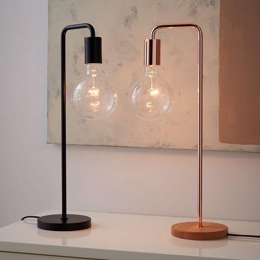 metro table lamp west elm. Black Bedroom Furniture Sets. Home Design Ideas