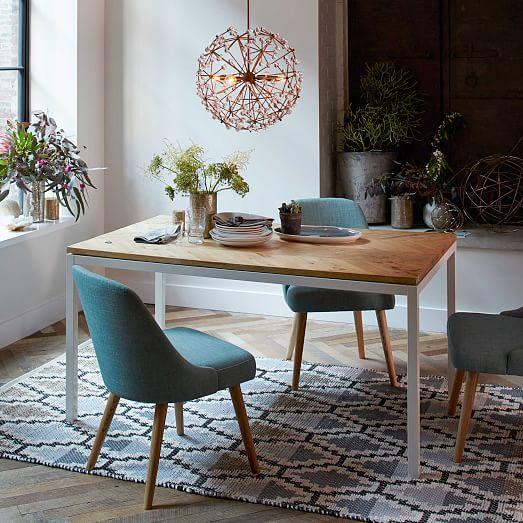 box frame chevron dining table west elm. Black Bedroom Furniture Sets. Home Design Ideas