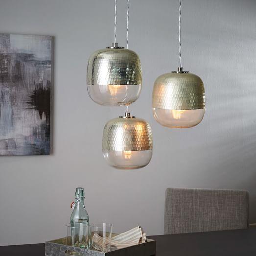 Cascadia Lighting Avenant 3 Light Kitchen Chandelier: Metallic Honeycomb Chandelier - 3-Light