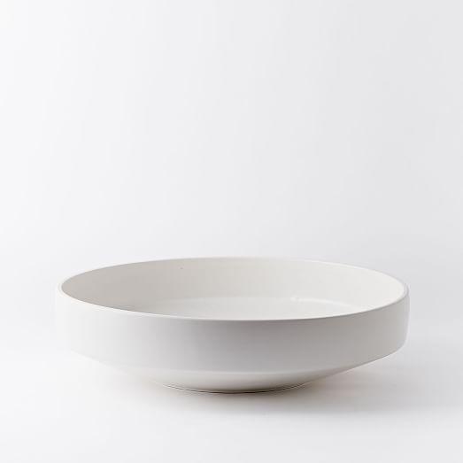 Pure white ceramic centerpiece bowl west elm