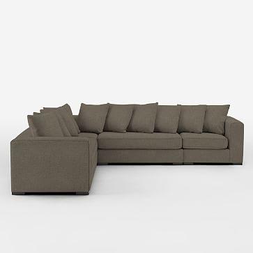 Walton set 4 armless loveseat 2 corners left arm for Shale sofa bed
