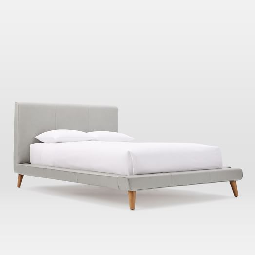 Mod Leather Bed Set- Full, Cement