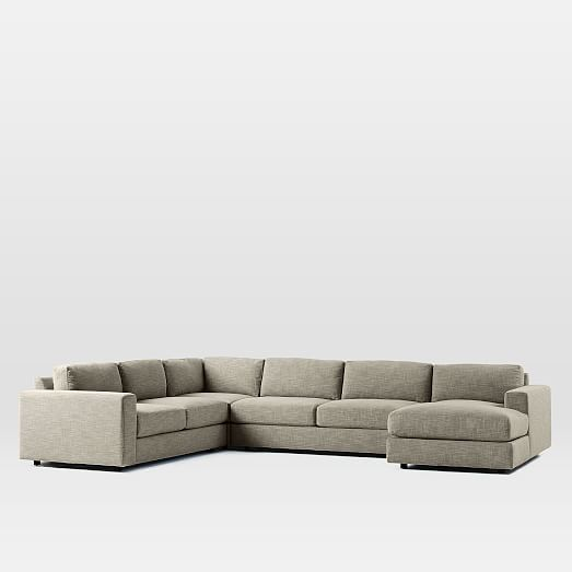 Urban 4 piece chaise sectional west elm for Chaise urban but