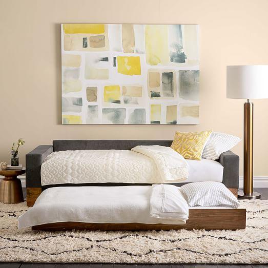 emery sofa daybed trundle west elm. Black Bedroom Furniture Sets. Home Design Ideas