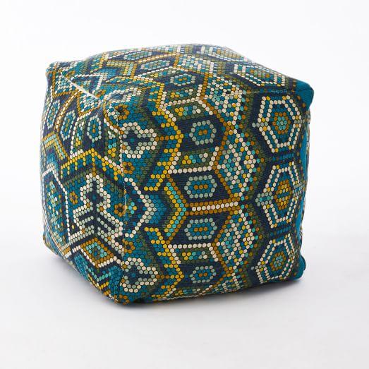 Outdoor Mosaic Tile Pouf, 16