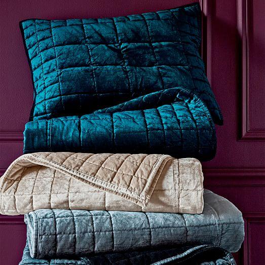 Washed Cotton Luster Velvet Quilt Shams Platinum  : washed cotton luster velvet quilt shams platinum c from www.westelm.com size 523 x 523 jpeg 66kB