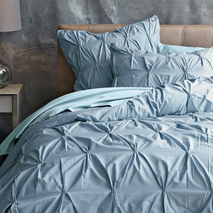 cotton pin duvet organic west pinched cover shams elm and media pintuck tuck canada