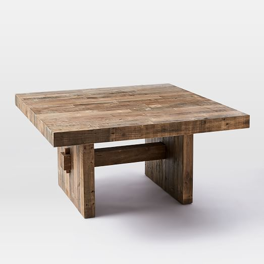 "West Elm Rustic Kitchen Table: Emmerson™ Reclaimed Wood Square Dining Table (60"" Sq"