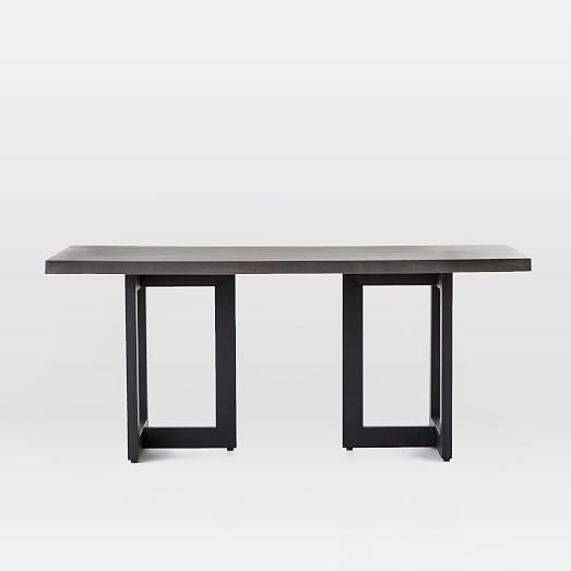 Ashton Indoor Outdoor Dining Table Iron West Elm