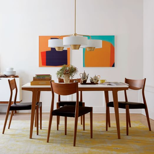 modern expandable dining table west elm select modern danish modern teak expandable dining room table